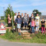 Gruppenfoto der Jugend beim Sommercamp 2015