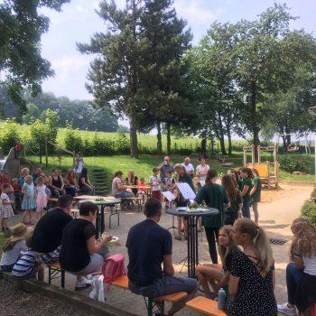 Unsere Junior-Gruppe beim Dohrgauler Sommerfest des Kindergartens