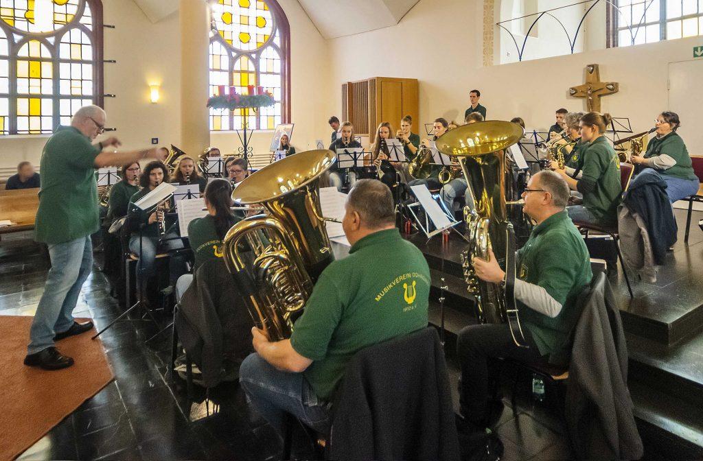 Der Musikverein in der Kapelle der JVA Remscheid