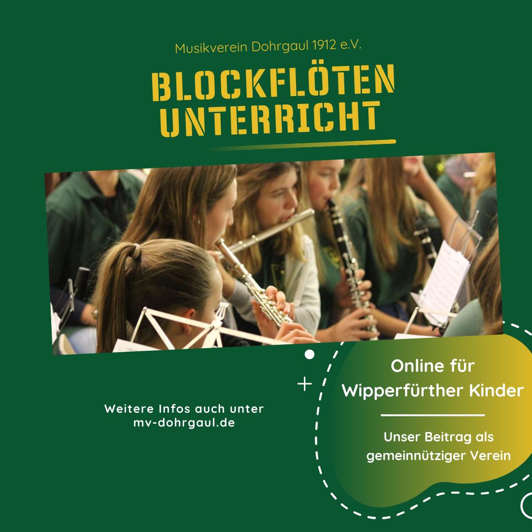Online Blockflötenunterricht für Wipperfürther Kinder