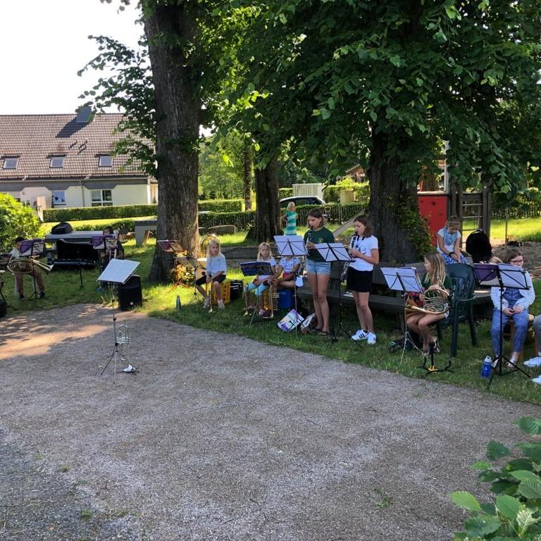MVD Juniororchester auf dem Dohrgauler Dorftrödel